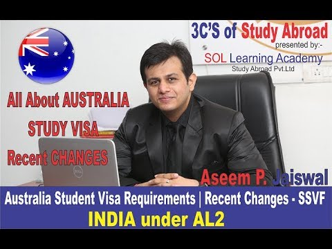 Australia Student Visa Latest News Know Funds Requirements Recent Changes INDIA in AL2 SSVF