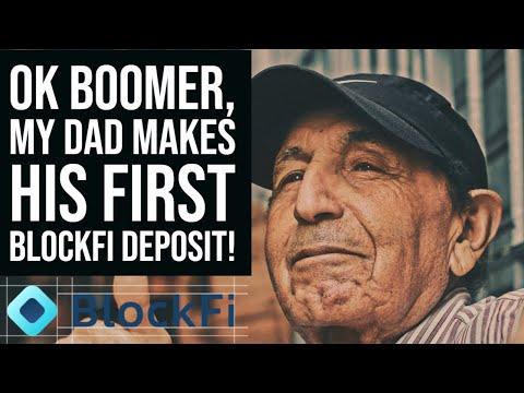 BLOCKFI REVIEW 🎙️ My Dad Makes First Deposit Into Blockfi Interest Acount | Bitcoin Credit Card