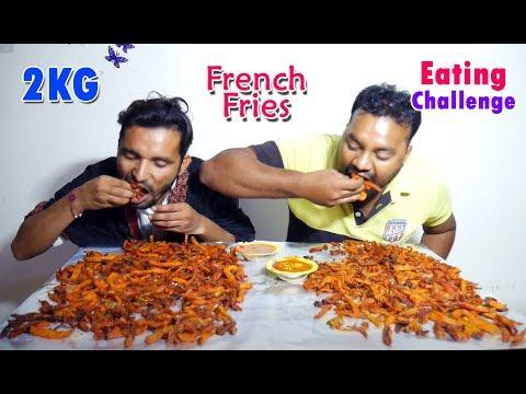 Massive Desi French Fries Eating Challenge   French Fries Eating Competition   Food Challenge India