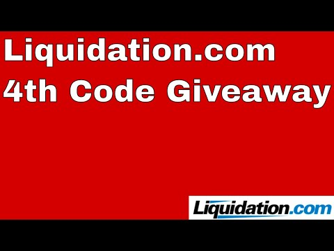 4th Discount Code Giveaway to Liquidation.com and Liquidators Guide Discount