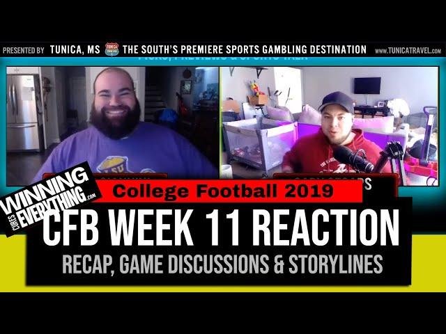 WCE: College Football Week 11 Reaction & Recap