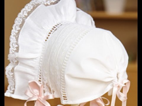 How To Make An Heirloom Baby Bonnet With Kathy McMakin On It's Sew Cool Free Baby Bonnet Sewing Pattern