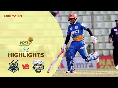 Chattogram Challengers Vs Khulna Tigers Highlights | 33rd Match | Season 7 | Bangabandhu BPL 2019-20