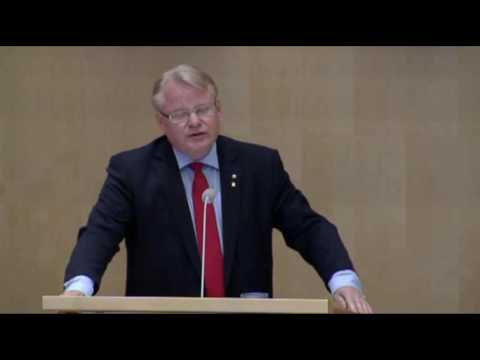 Swedish Defence Minister Peter Hultqvist May 25, 2016