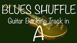 Blues Shuffle Guitar Backing Track in A