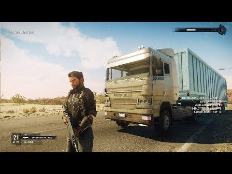 Just Cause 4 - Cargo Trailer Truck - Open World Free Roam Gameplay (PC HD) [1080p60FPS]