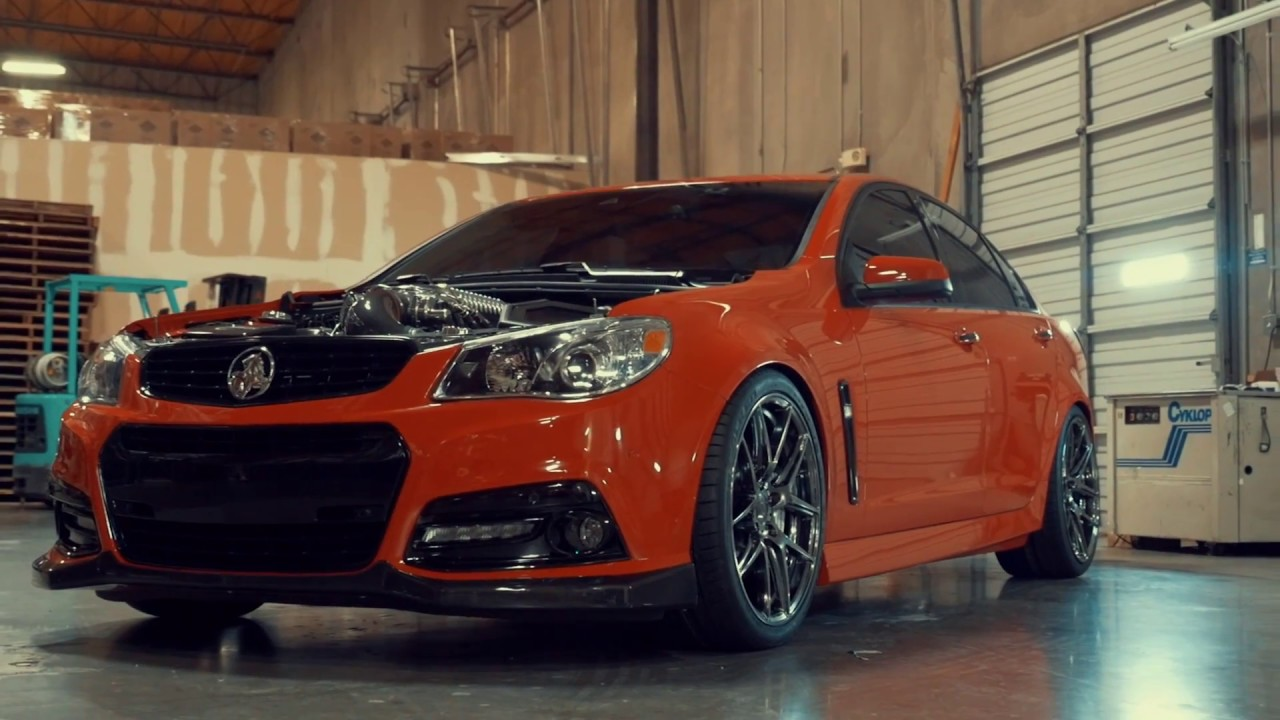 Ace Alloy Wheels >> Chevy SS Show & Go on ACE Flowform AFF02 Black Chrome - YouTube