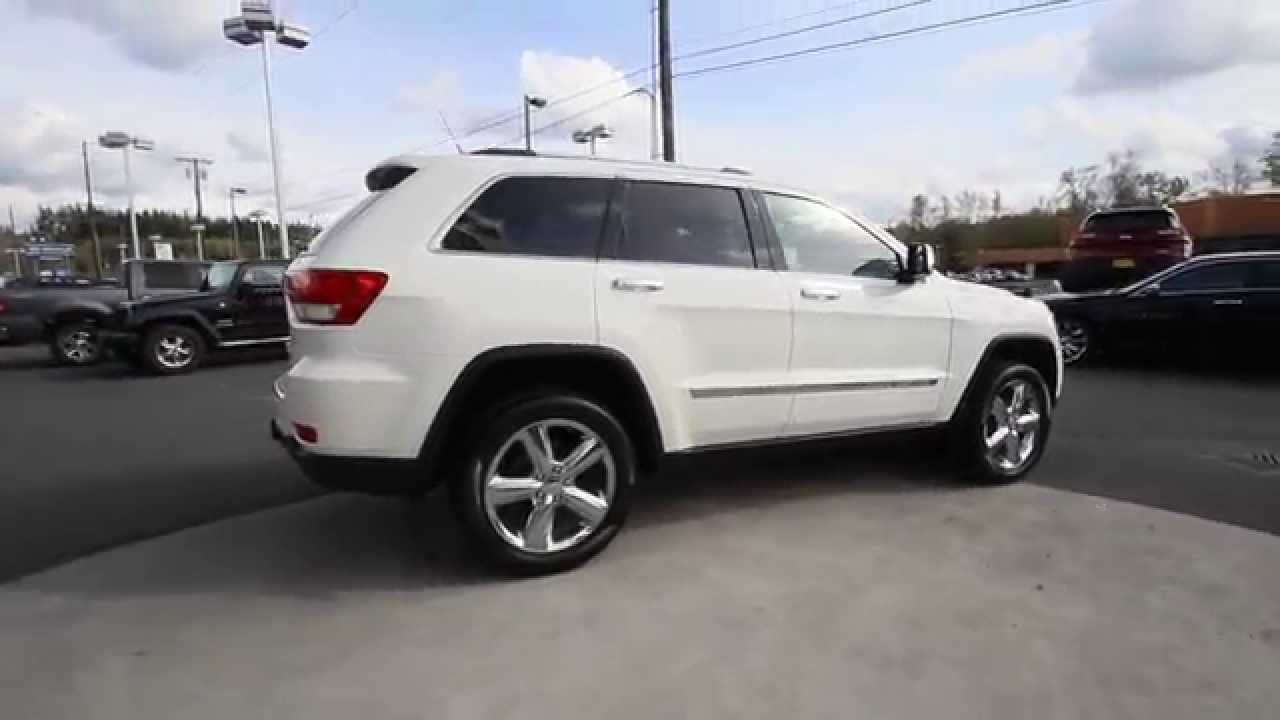 Jeep Cherokee White And Black >> 2011 Jeep Grand Cherokee Overland | Stone White Clearcoat | BC721625 | Mt Vernon | Skagit - YouTube