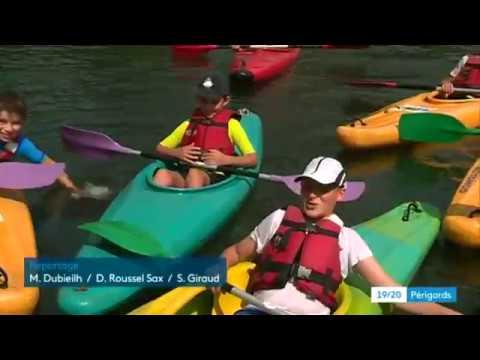 Initiation au kayak à Marsac-sur-l'Isle