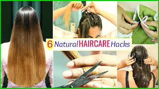 6 NATURAL Life Saving HAIR CARE Hacks .. | Herbal Essences | #Teenagers #Beauty #ShrutiArjunAnand