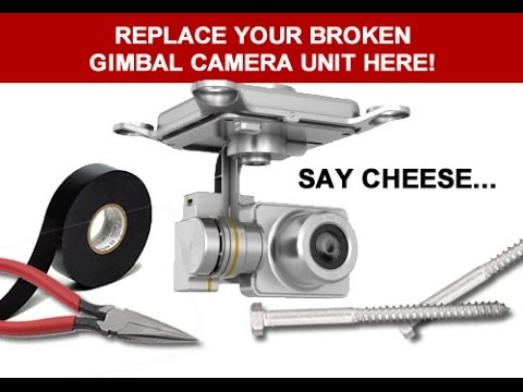 DJI Phantom 2 Vision+ Gimbal Camera Replacement How To