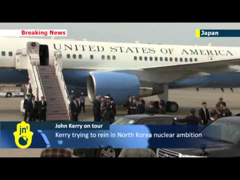 Kerry arrives in Japan after talks in China on N Korea