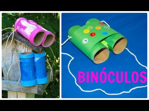 Como fazer binoculo com canudos para procurar suas bonecas for Como criar caracoles de jardin
