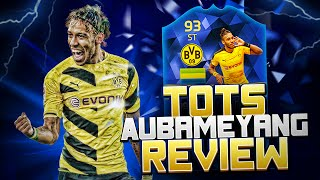 Fifa 16 tots aubameyang review + in game stats - best and most op 99 pace striker on fifa 16
