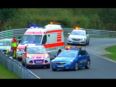 Nürburgring Rescue Team | RTW, E-Unit, Safety-Car, Intervention Car | Einsatz auf der Nordschleife