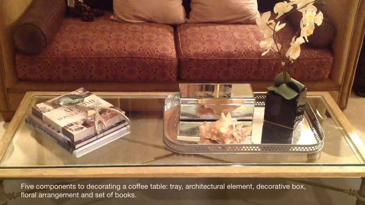 designer tip decorating a coffee table - How To Decorate A Coffee Table