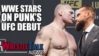 WWE Stars On CM Punk's UFC Debut! Brock Lesnar Gives Punk 'Advice'! | WrestleTalk News