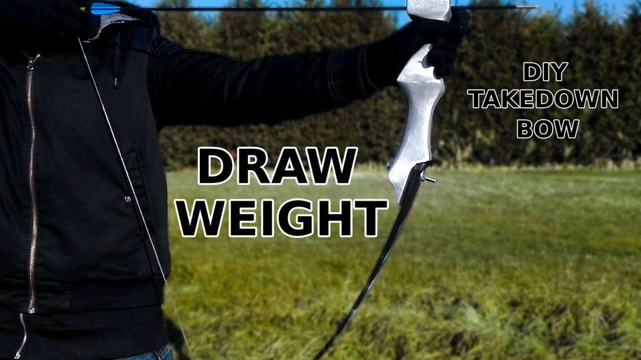 100 Lbs Takedown Bow Draw Weight Test Youtube