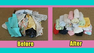 Mom Hacks  |  How To Easily Fold Baby Cloths