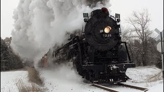 Pere Marquette 1225 Polar Express in the Snow! ft. 611