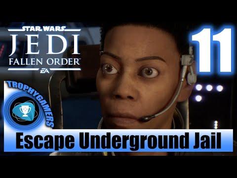 Jedi Fallen Order - Escape The Underground Jail & Mad Midge Boss Fight - Walkthrough Part 11