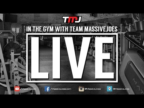 Back Workout | In The Gym With Team MassiveJoes LIVE | March 2016