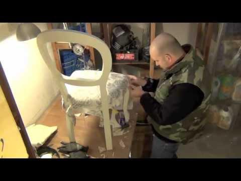 Come ristrutturare una sedia youtube - Tappezzare una sedia ...