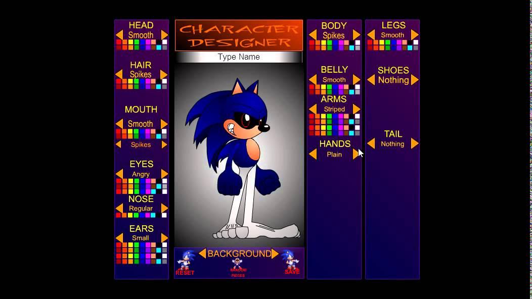remaking sonic the hedgehog exe sonic character creator youtube