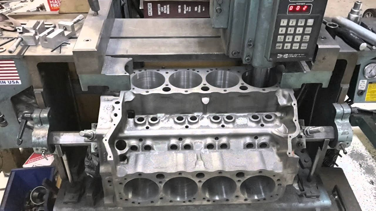 Are Boring An Engine Block Cylinder Youtube
