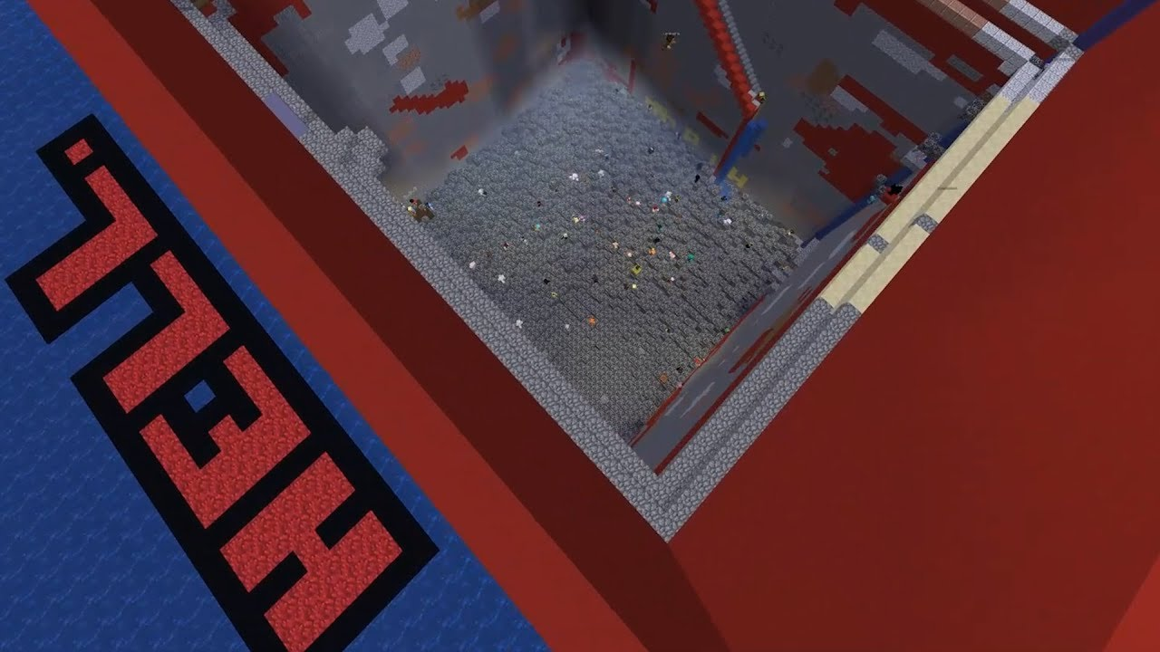 I Forced 200 Minecraft Players To Dig Through The World Itself Youtube