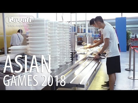 Catering Equipment Rental : Asian Games 2018 Dining Hall, Athletes Village Kemayoran.