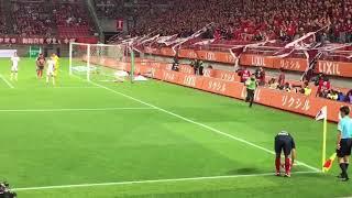 9/23に行われた 鹿島アントラーズ対ガンバ大阪の試合での植田直通選手の...