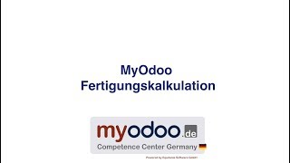 MyOdoo Fertigungskalkulation
