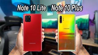Samsung Galaxy Note 10 Lite VS Samsung Galaxy Note 10 Plus Comparison