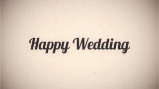 【旧】らぼわん 自作に使える無料素材 昔の映画風レトロ「Happy Wedding」 thumbnail