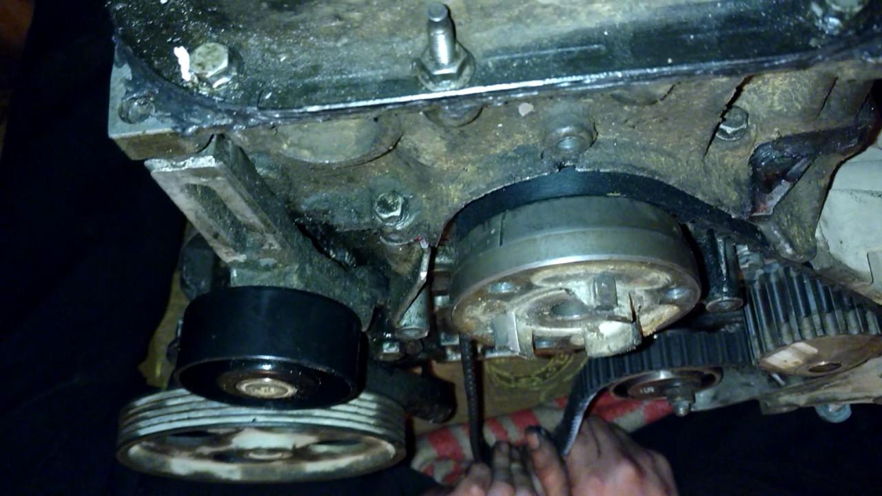 установка меток на двигателе 1.4 ситроен