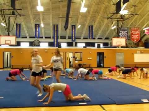 Animal game after cheer practice!