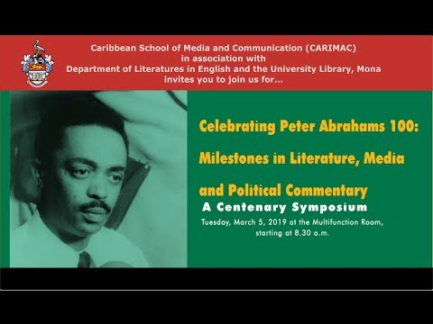 Celebrating Peter Abrahams 100: Milestones In Literature, Media And Political Commentary