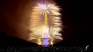Bastille Day in Paris: the Eiffel tower fireworks