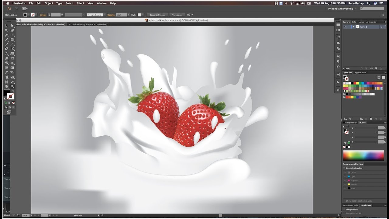 How to Create Milk and Water Splash Effect in Adobe Illustrator Cc tutorial