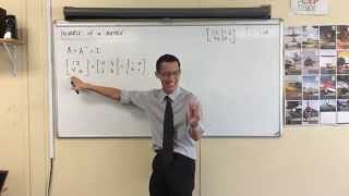 Determining the Inverse of a Matrix Algebraically