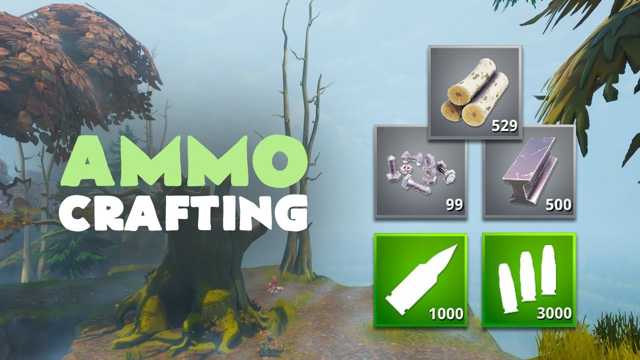 ammo crafting materials a beginners guide fortnite save the world - fortnite crafting recipes