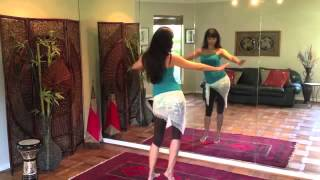 Learn Belly Dance Hip Roll Step by Step Tutorial