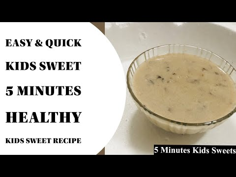 5 Minute Kids Sweets To Make At Home | Simple Sweet For Kids | Easy Recipes With Less Ingredients