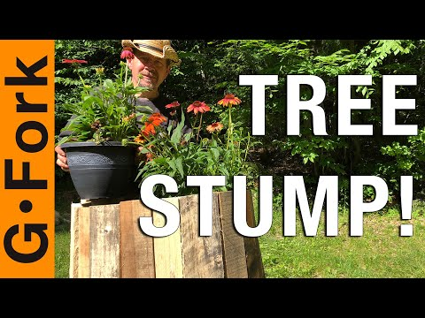 pallet-tree-stump-planter!