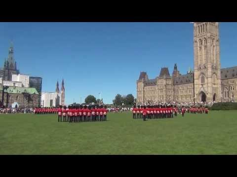 Changing of the guard on Parliament Hill, Ottawa, Canada 2013