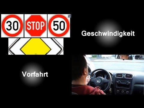 Fahrbahnmarkierungen als Orientierungshilfe für Geschwindigkeit und Vorfahrt