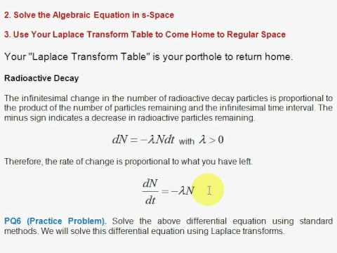 Q4. Differential Equations: Radioactive Decay - YouTube