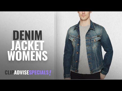 Top 10 Denim Jacket Womens [2018]: Nudie Billy Scribble Denim Jacket