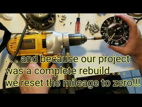 Rebuilding a 1971 VW Super Beetle Speedometer